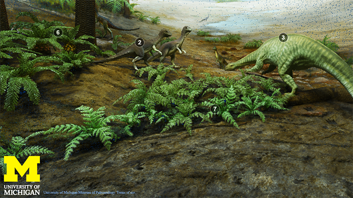 still image from Triassic Diorama